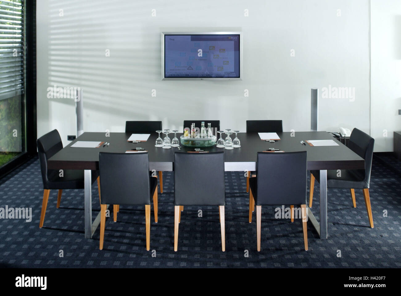 Meeting Room, Conference Table, Chairs, Bases, Glasses, Drinks, Wall, Flat  Screen TV Conference Room, Office, Meeting, Conference, Business, Company,  ...