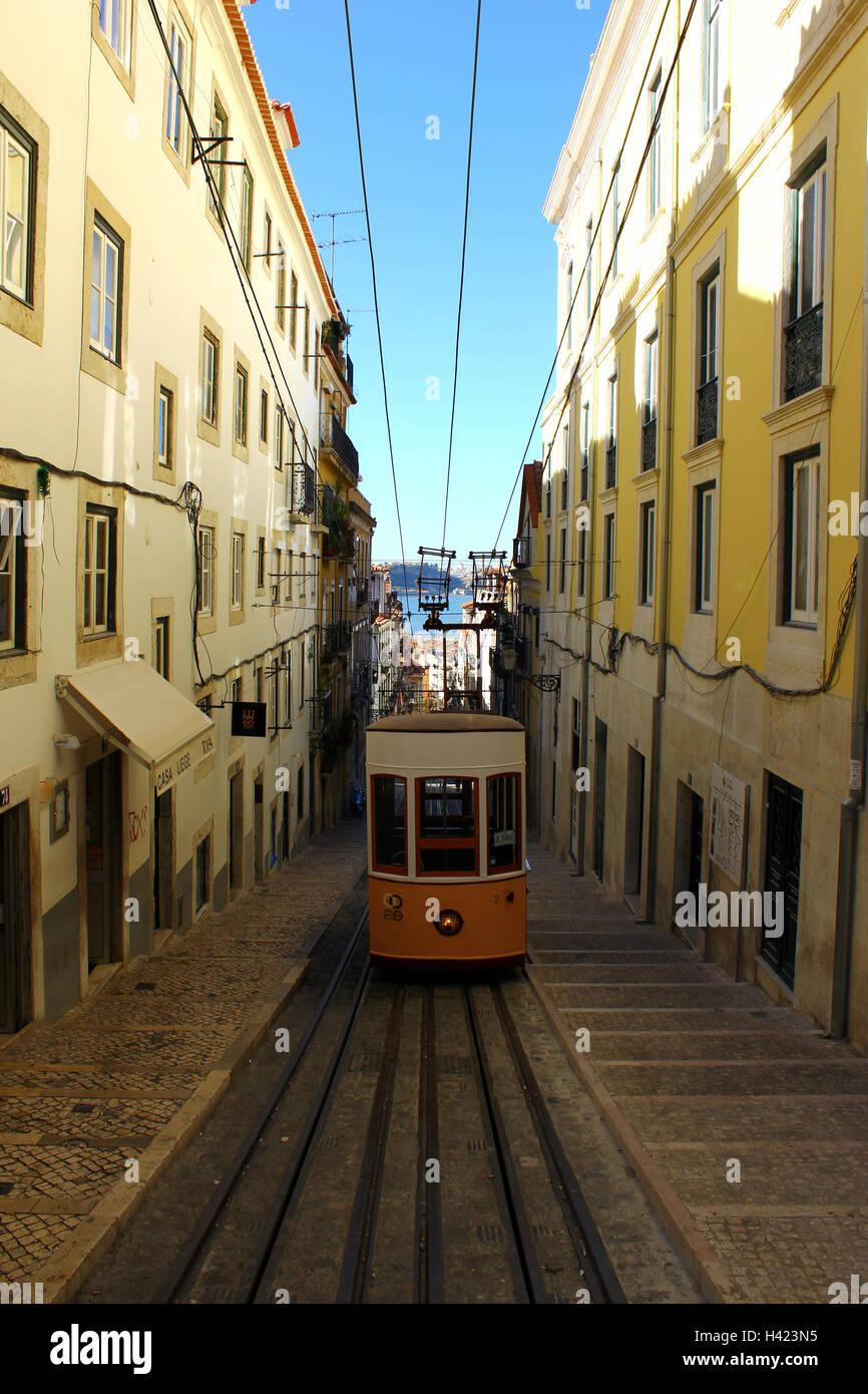 Bica Elevator Lisbon Portugal Stock Photo 122978049 Alamy