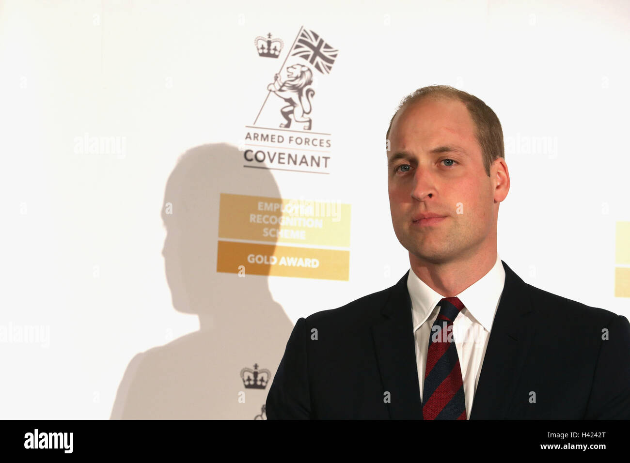 The Duke of Cambridge attending the MOD Employer Recognition Scheme Gold Awards being held at the Royal Hospital - Stock Image