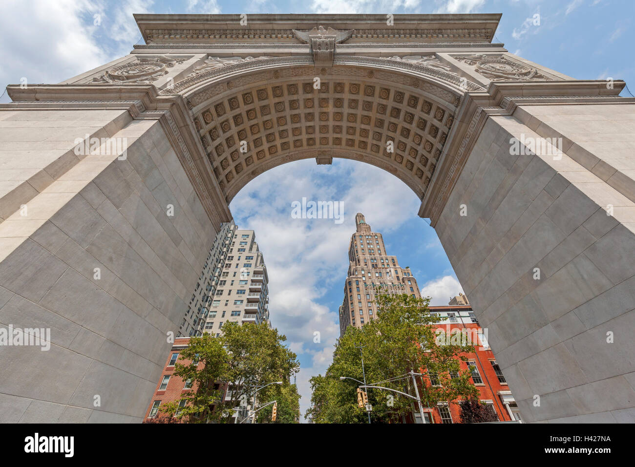 Washington Square Park Arch in New York City. - Stock Image