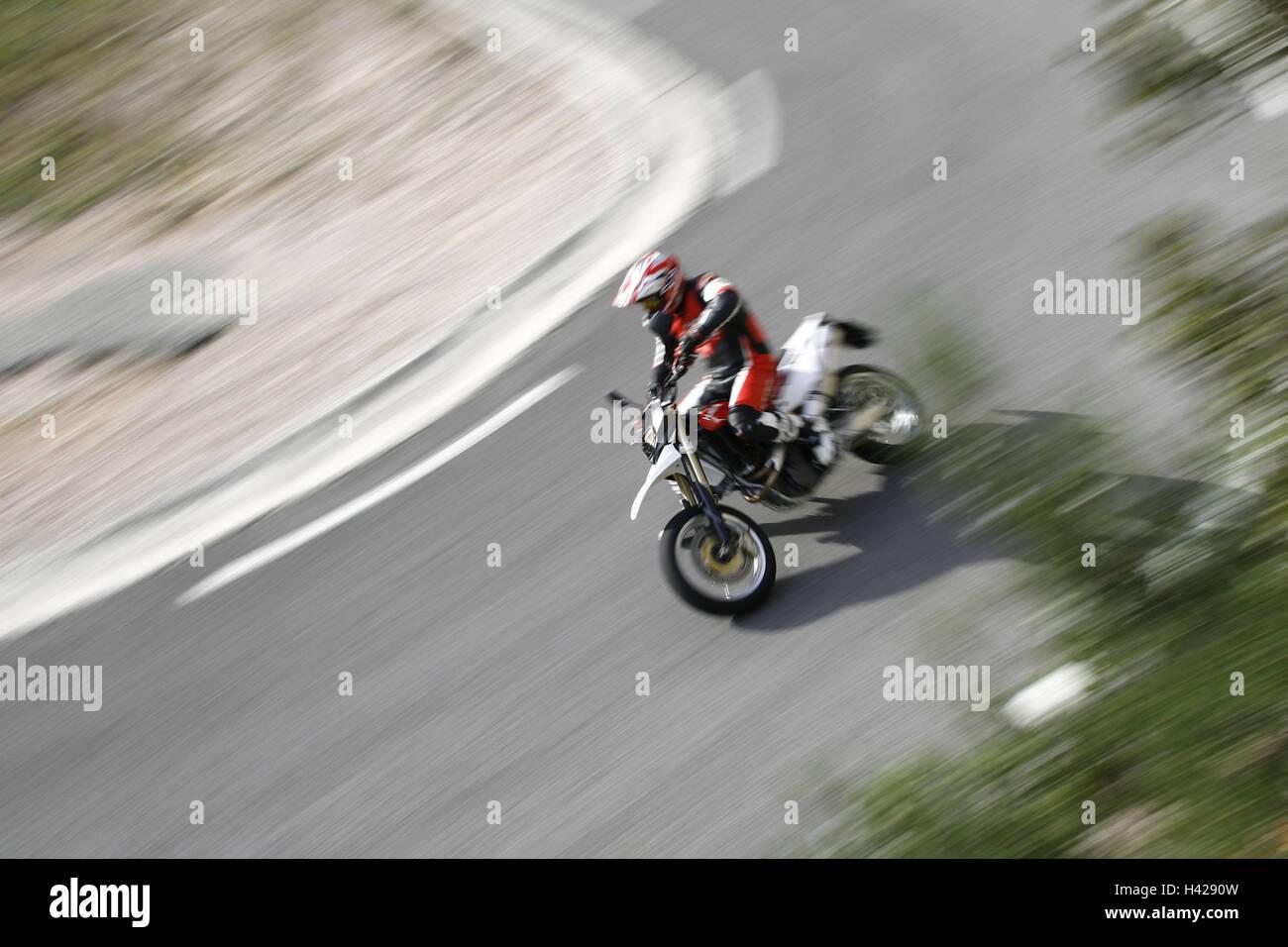 Motorcycle, single cylinder engine fun bikes, Husqvarna Stock Photo