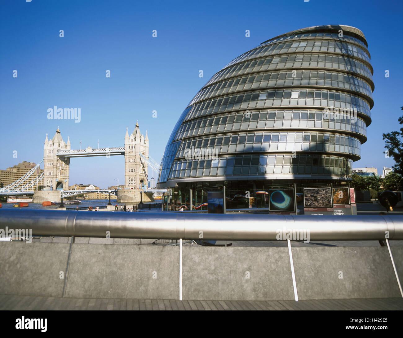 Great Britain, England, London, Tower Bridge, city sound, Europe, capital, destination, place of interest, landmark, - Stock Image