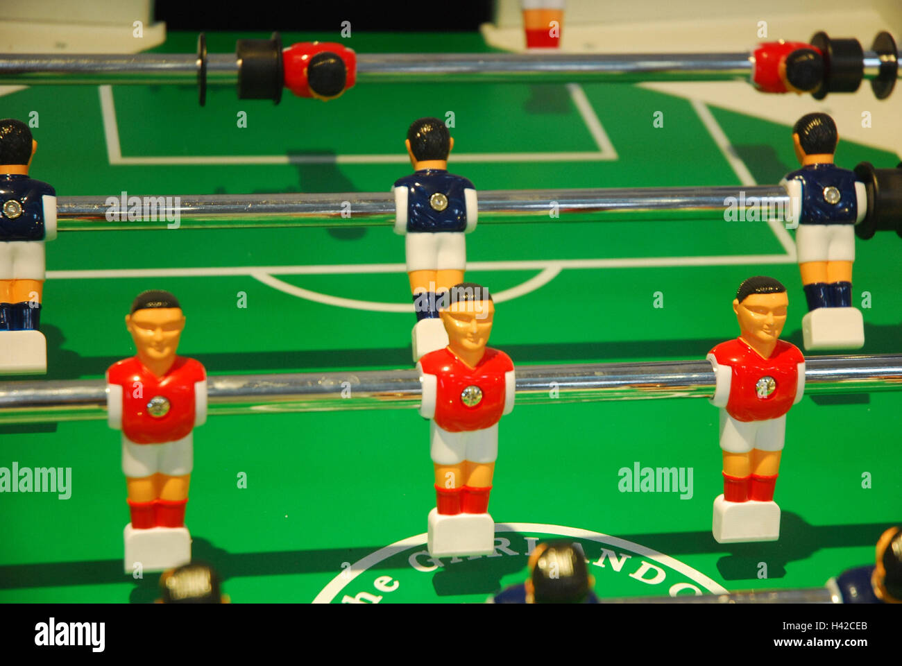 Table football, football player's game, detail, - Stock Image
