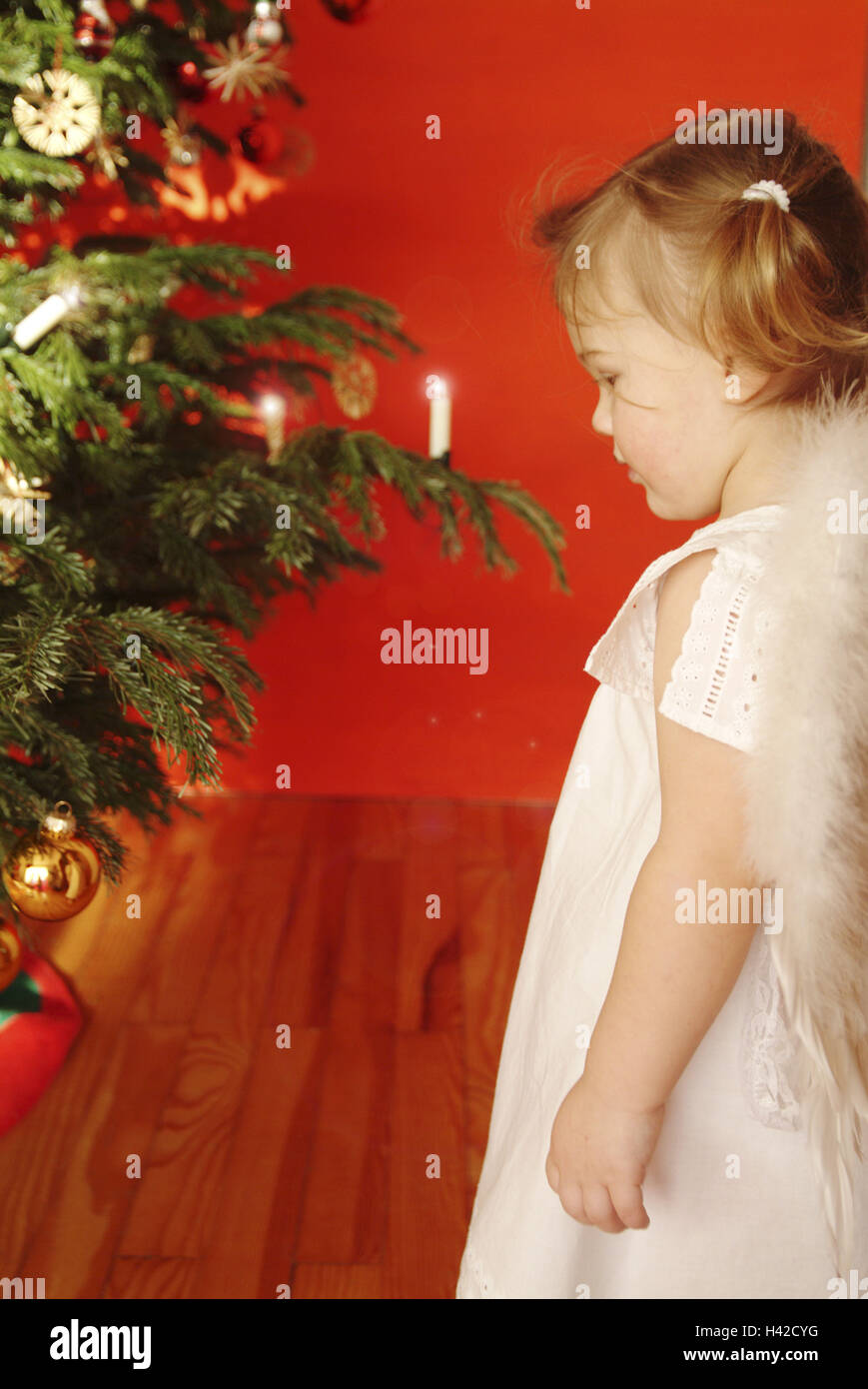 christmas child girls braids little dress angel wings side