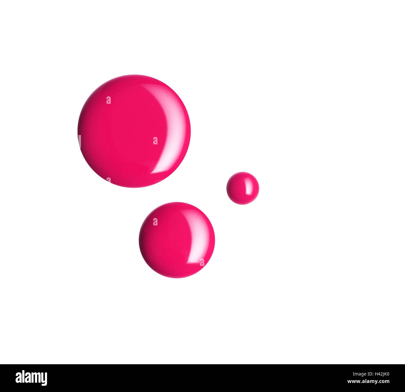 Drop, nail varnish, red, cosmetics, beauty, colour, Beauty, blotch, blot, blots, fluidly, thickly, liquid, radiant, - Stock Image
