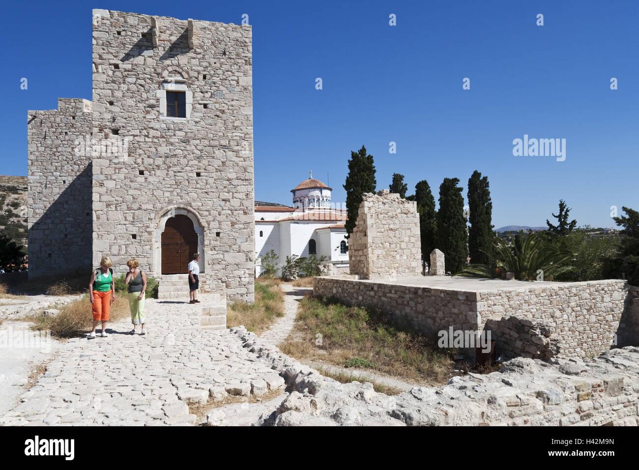 Castle Logothetis, Pythagorion, island Samos, Mediterranean island, Greece, Europe, Stock Photo