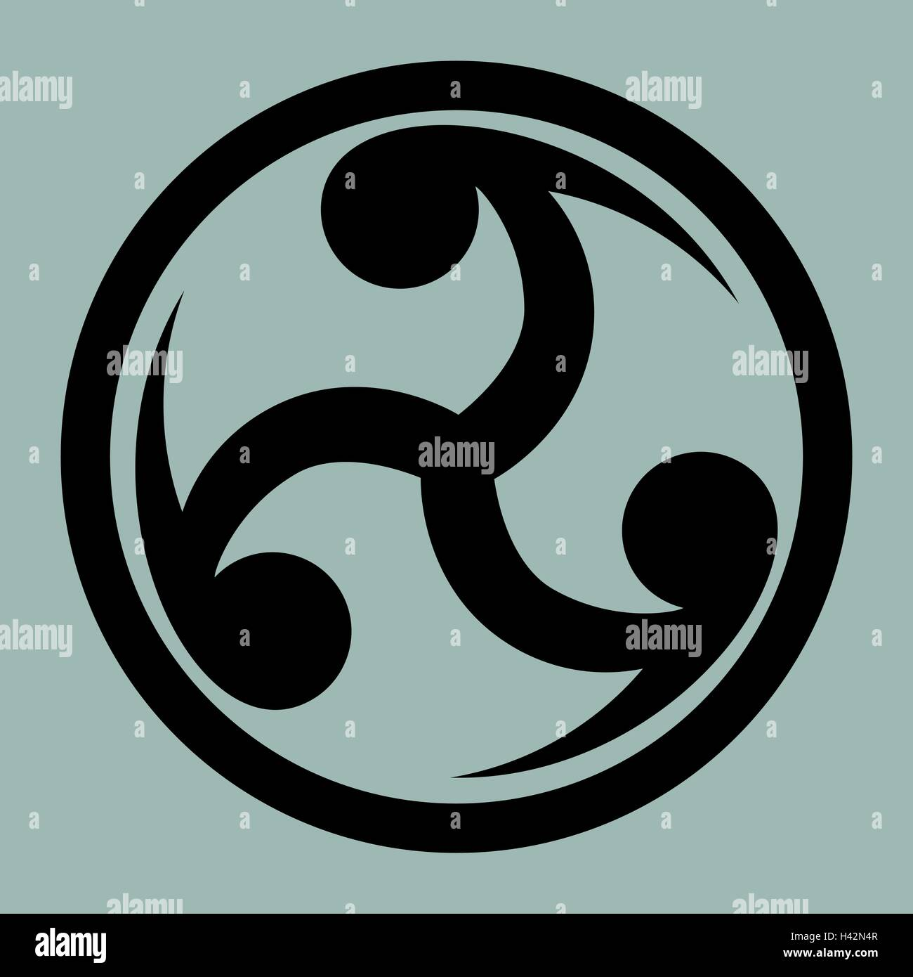 Mitsu Tomoe Japanese Symbol As A Visual Representation Of The