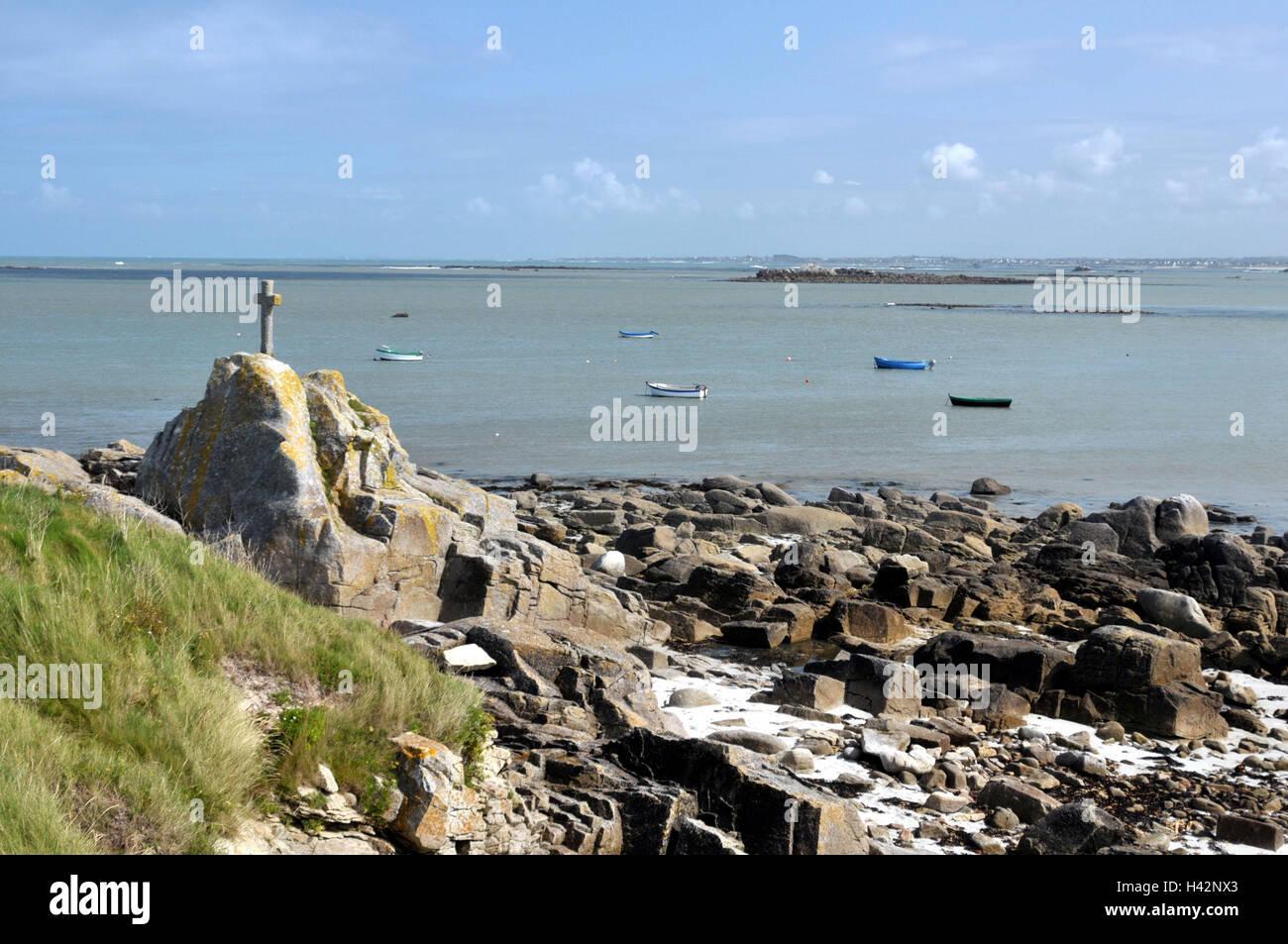 France, Brittany, pest de Lividic, bile coast, - Stock Image