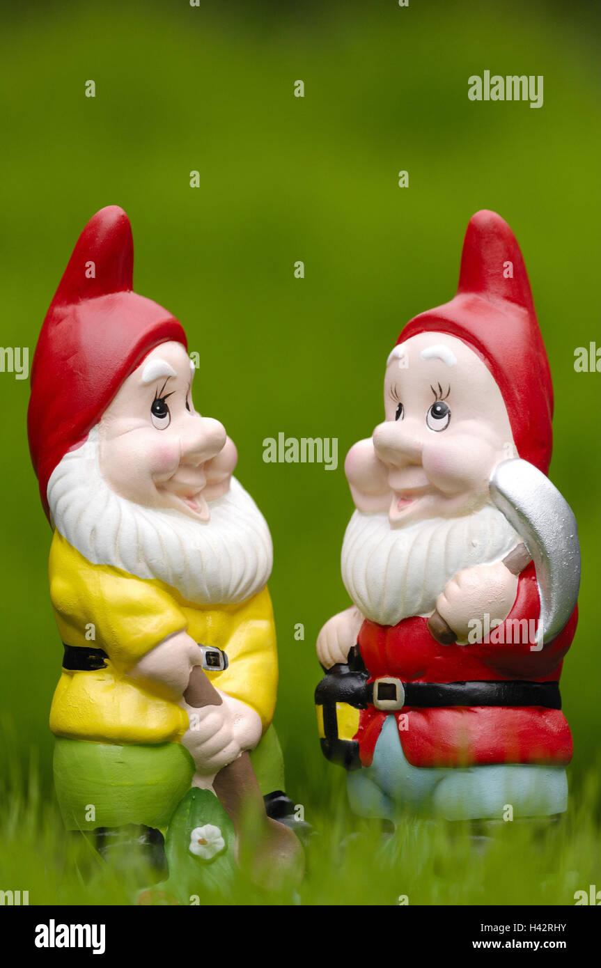 Garden gnomes, Stock Photo