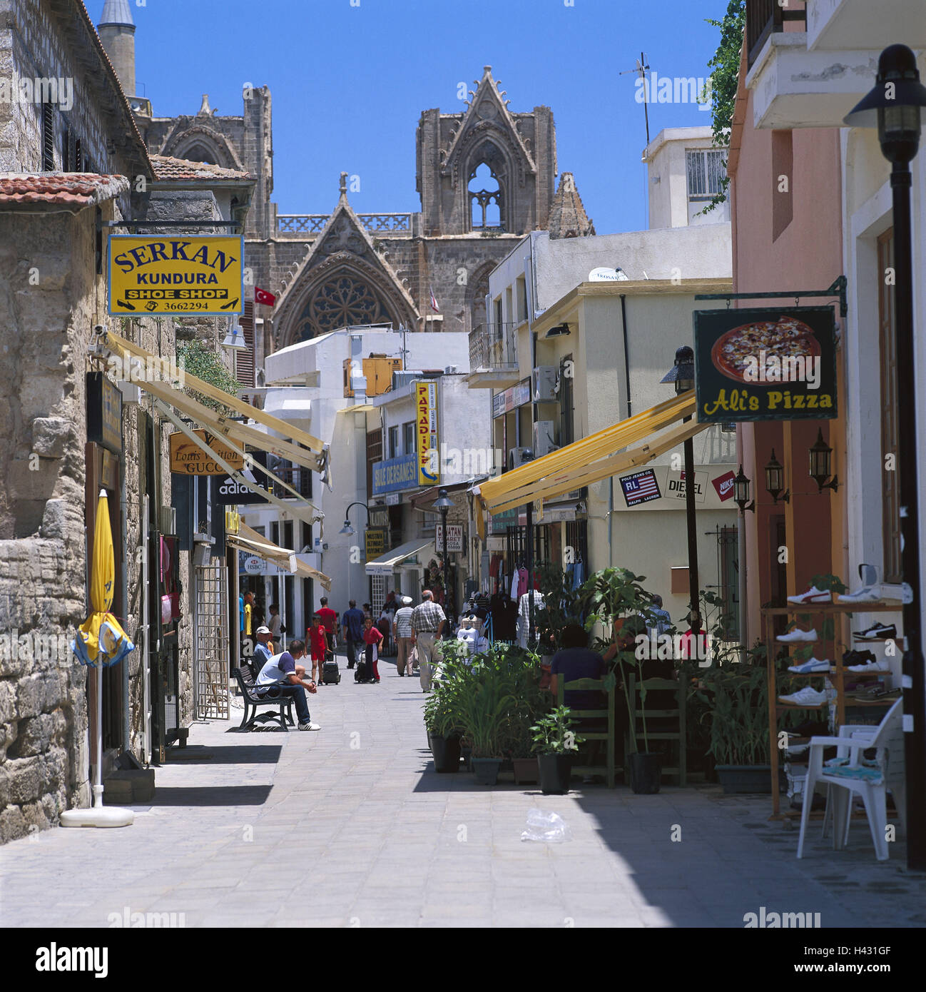 Cyprus, In Turkish, Famagusta, Old Town, Lane, Passer-by