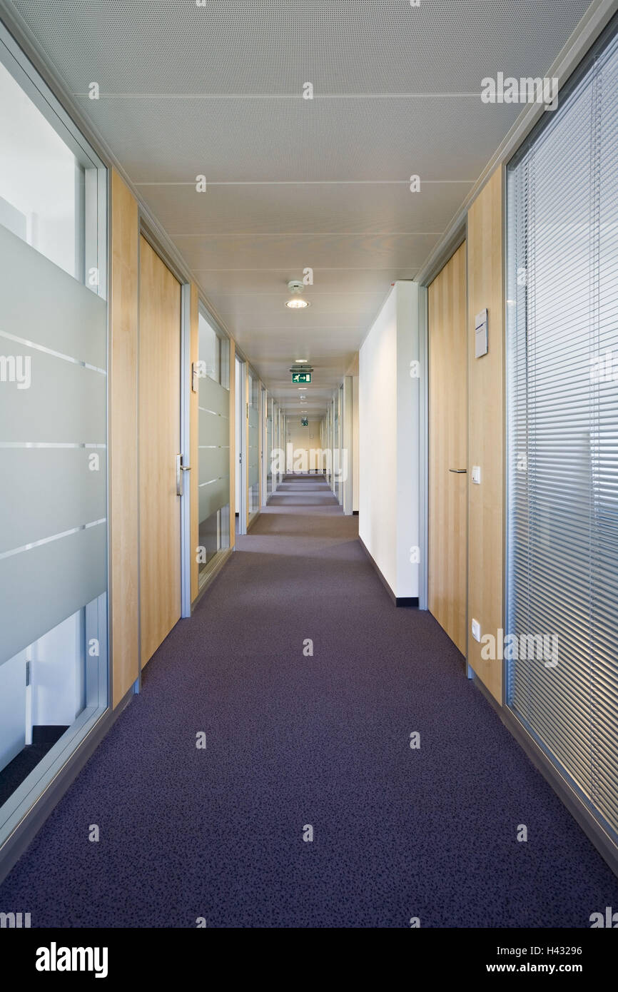 Office buildings, interior design, modern, hall, - Stock Image