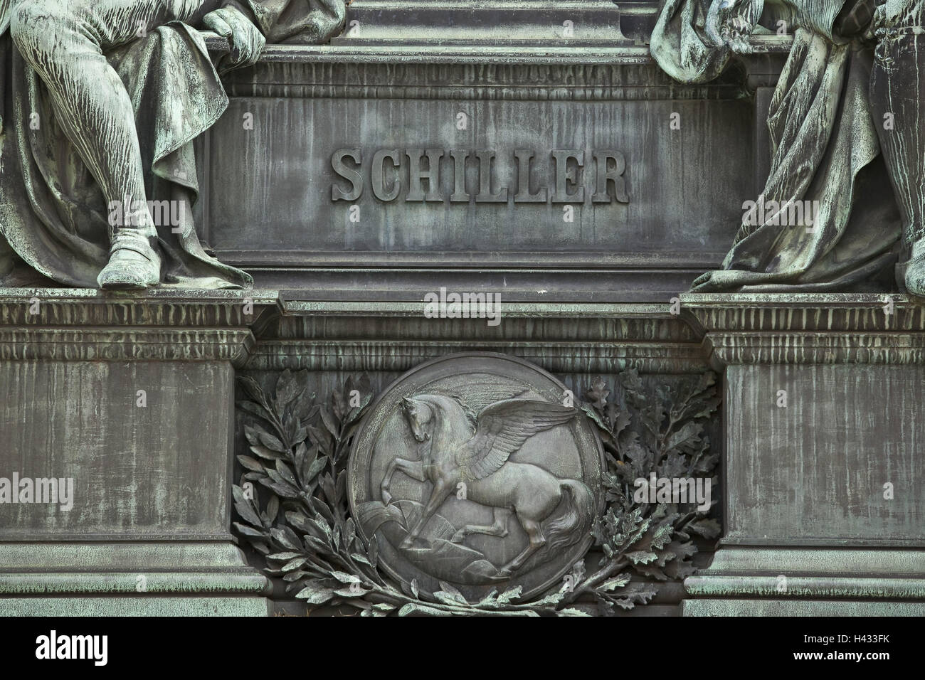 Austria, Vienna, statue, monument, shimmer, - Stock Image