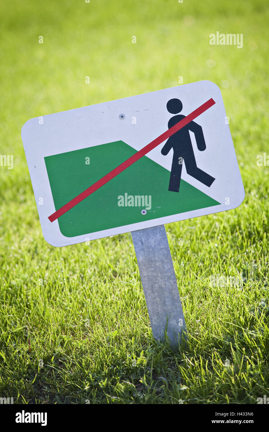 Turfs, sign, icon, 'embarrassed forbade' - Stock Image