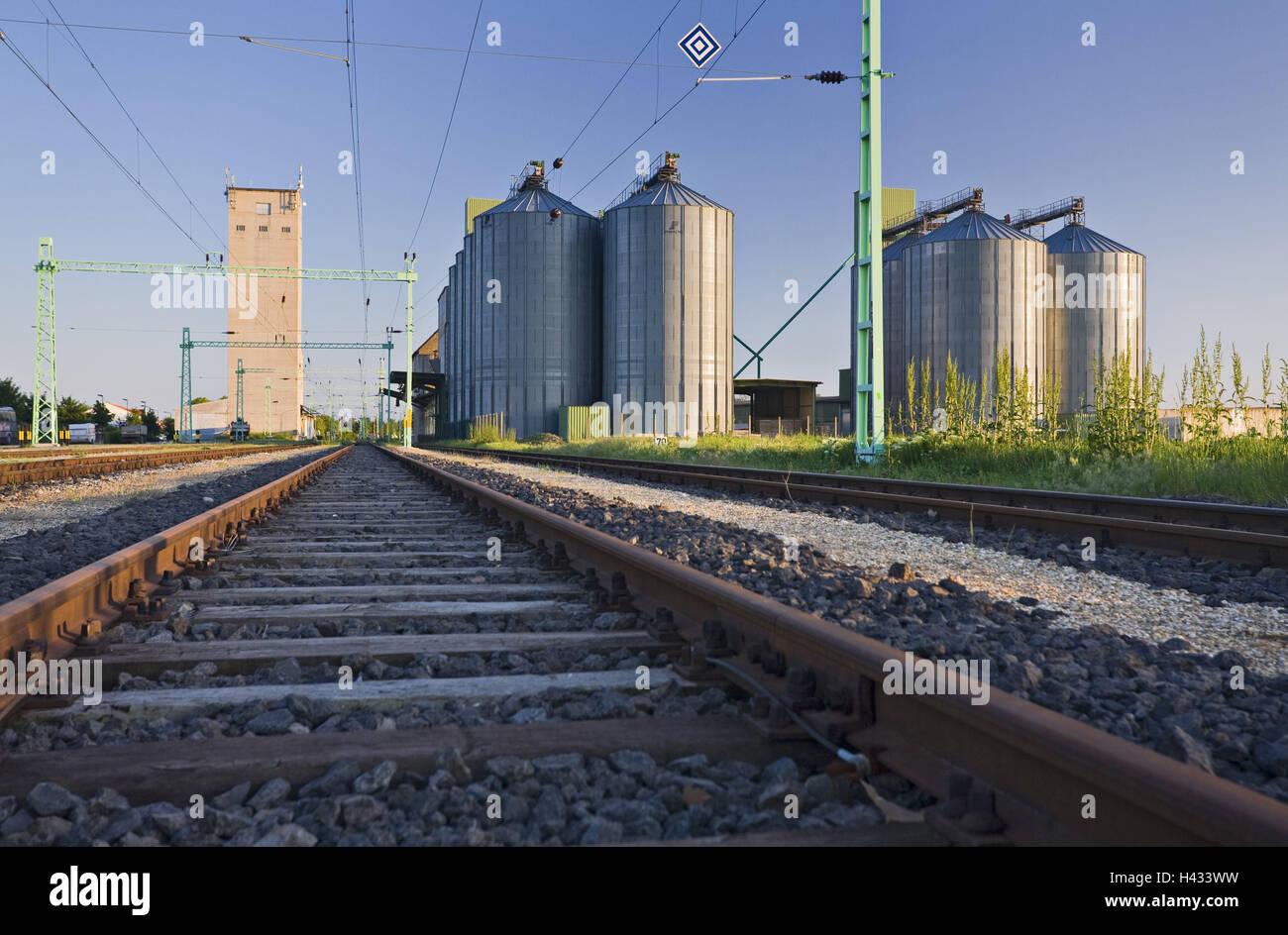 Austria, Burgenland, to catfishes, trajectory rails, - Stock Image