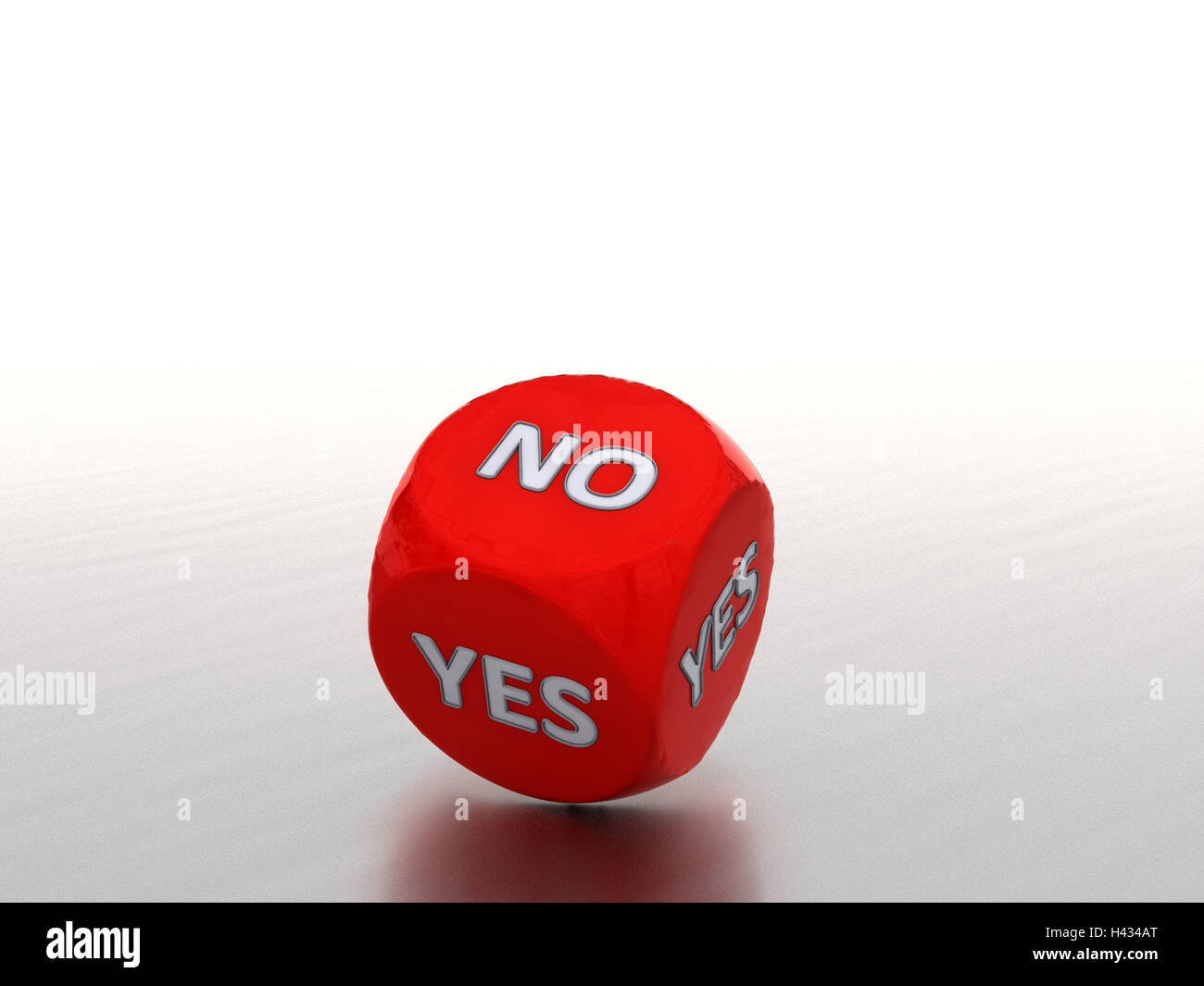 Cubes, yes, no, computer graphics, game cube, red, decision, decision help, help, chance, throw dice, yes, no, 3d - Stock Image