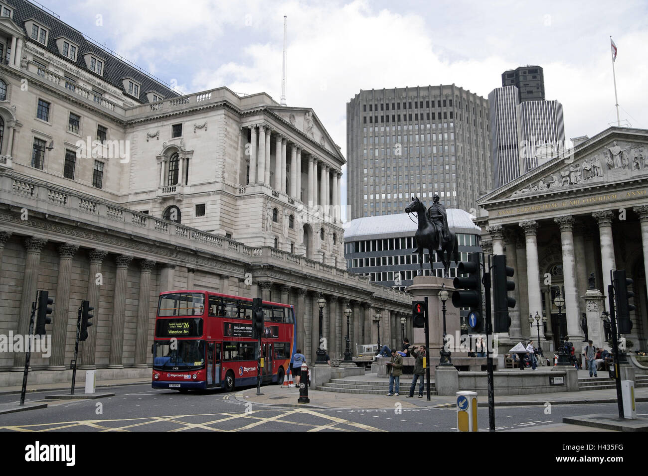 Great Britain, England, London, bank of England, royal Exchange, - Stock Image
