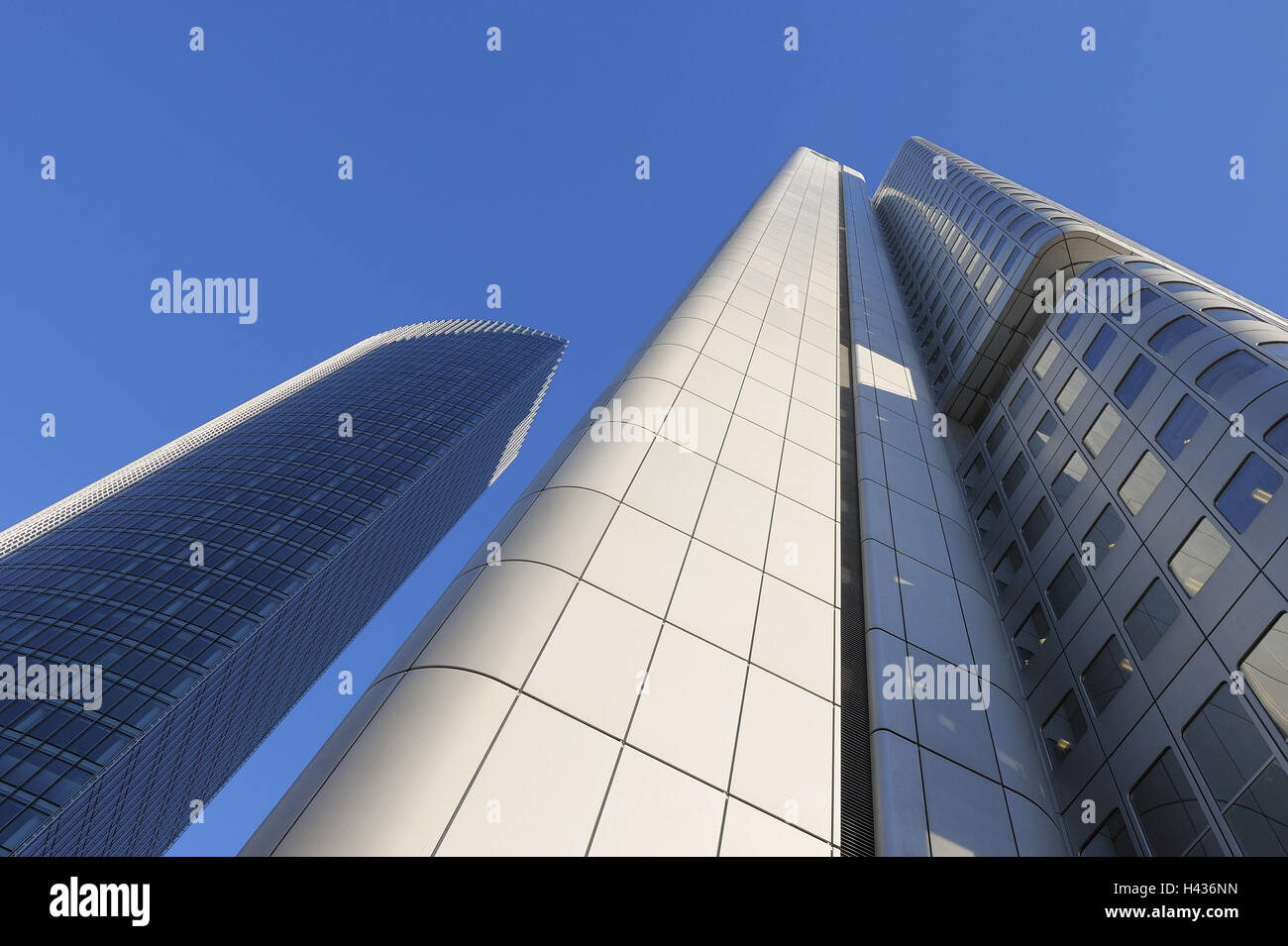 Germany, Hessen, Frankfurt on the Main, the Dresdner Bank, bank high rise, perspective, Stock Photo
