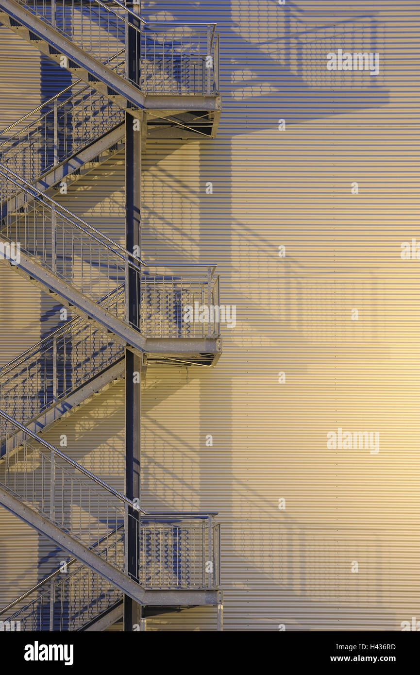 Outside Stairs, Steel Design Work, Stairs, Emergency Stairs, Building  Facade,