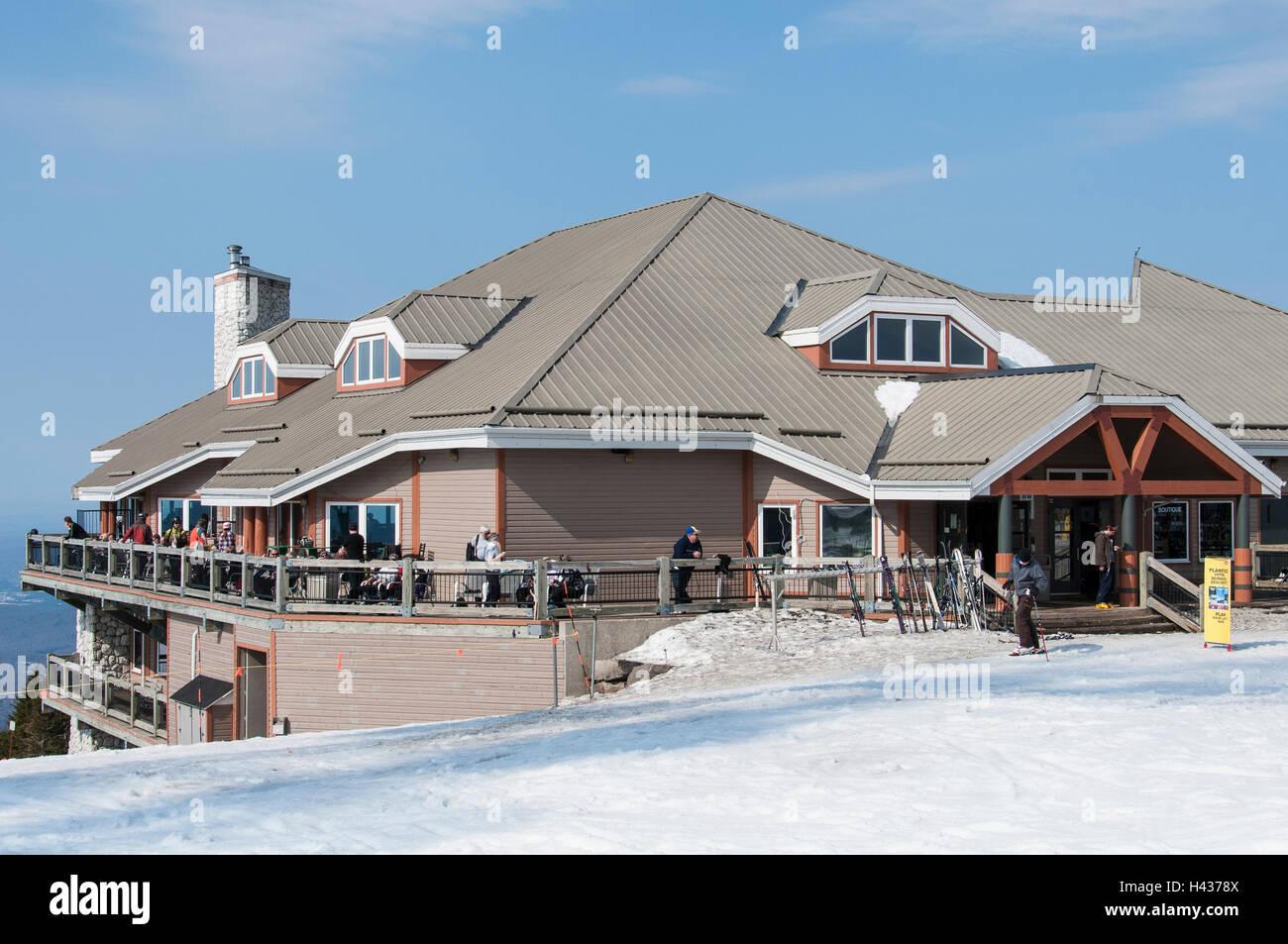 Le Grande Maitou atop Mont Tremblant Ski Area, Quebec, Canada. - Stock Image