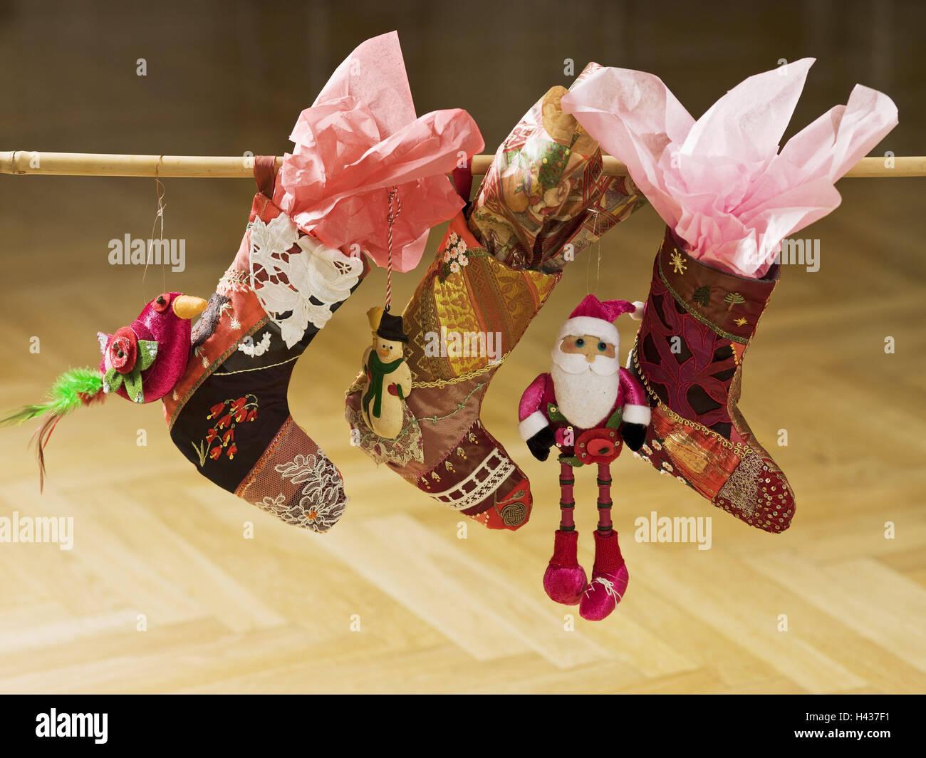Weihnachtsdeko Xmas.Bamboo Stick Santa S Boot Hang Weihnachtsdeko Xmas Decoration