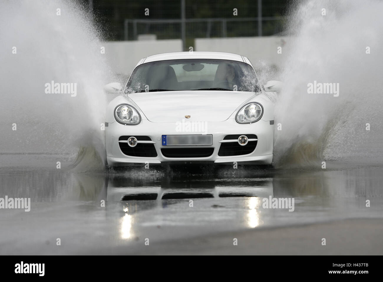Porsche Cayman, Drive, Water, Splashes, Car, Outside, Porsche Cayman