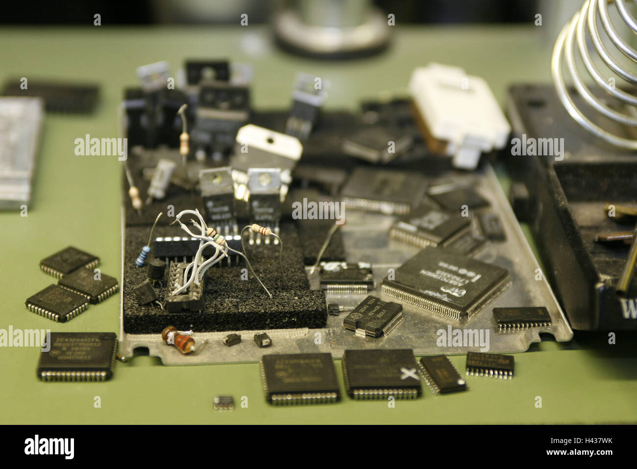 Electronic Waste Recycling Stock Photos Scrap Circuit Board Machine Computer Metal Remains Crisps Boards