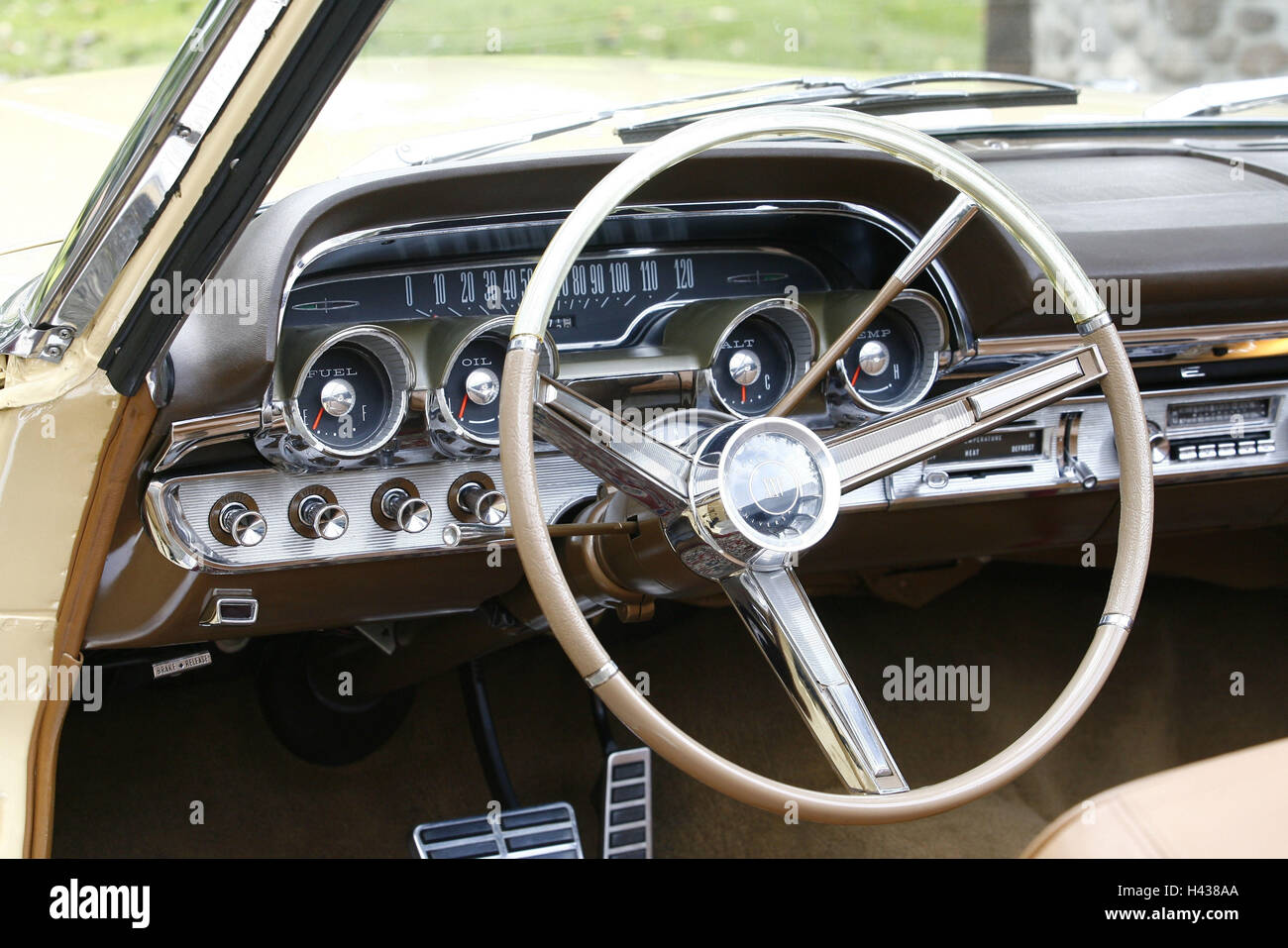 Mercury, old-timer, in American manner, cabriolet, cockpit, - Stock Image