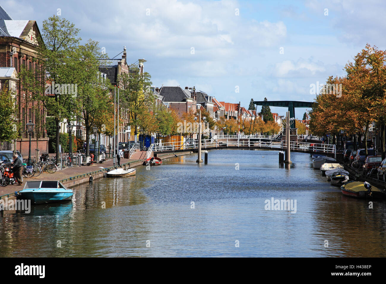 The Netherlands, ailments, town view, channel, - Stock Image