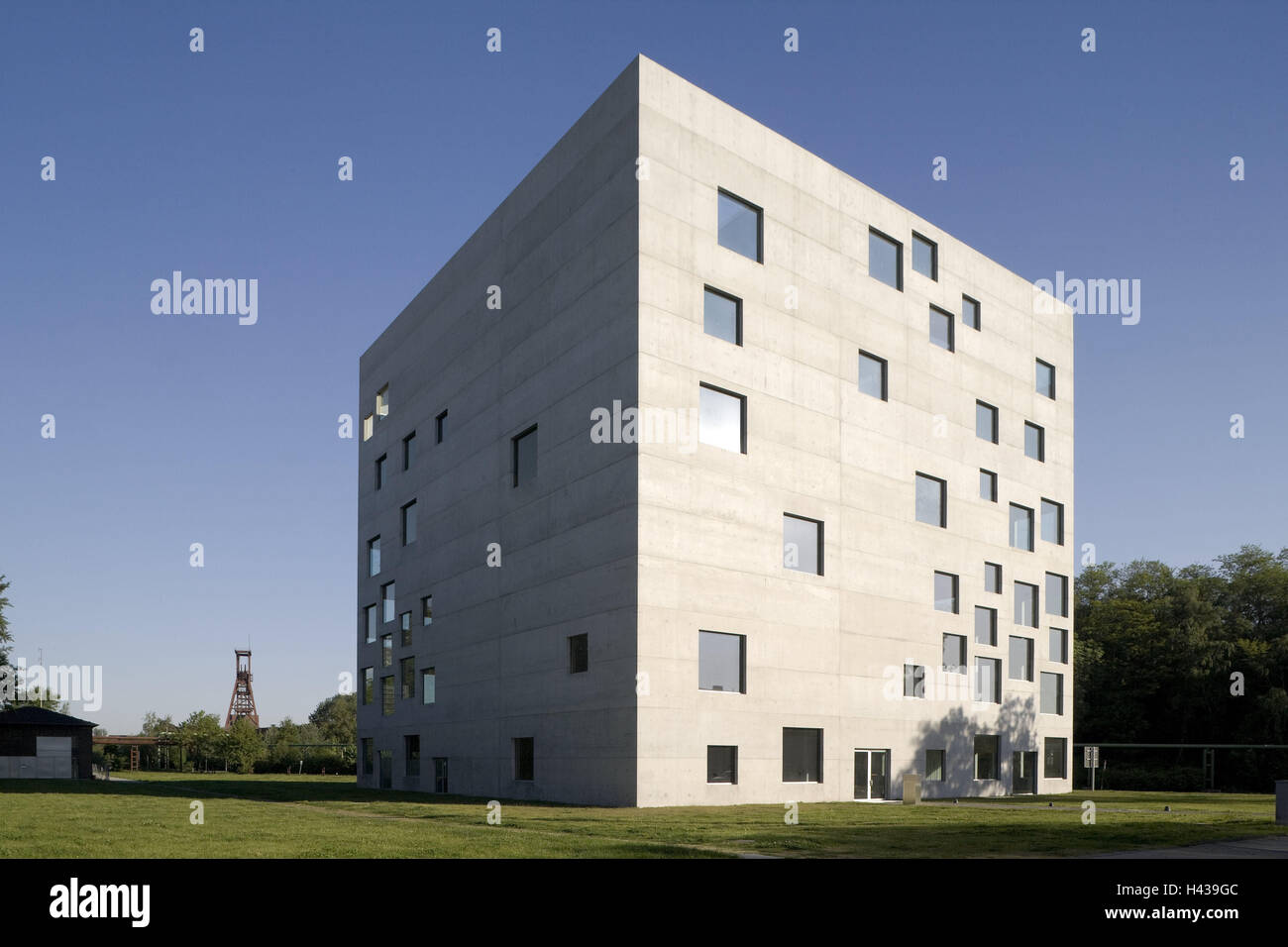 Germany, North Rhine-Westphalia, food, School management and design, architecture, outside, town, inch club, area, - Stock Image