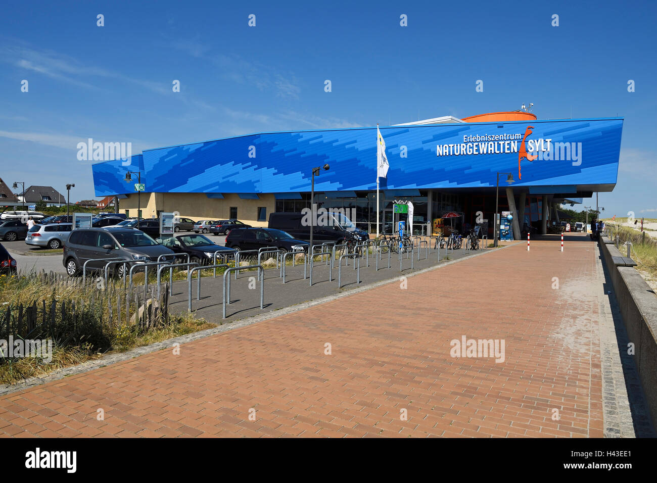 Forces of Nature Centre in the port of List, Sylt, North Frisian Islands, North Frisia, Schleswig-Holstein, Germany - Stock Image