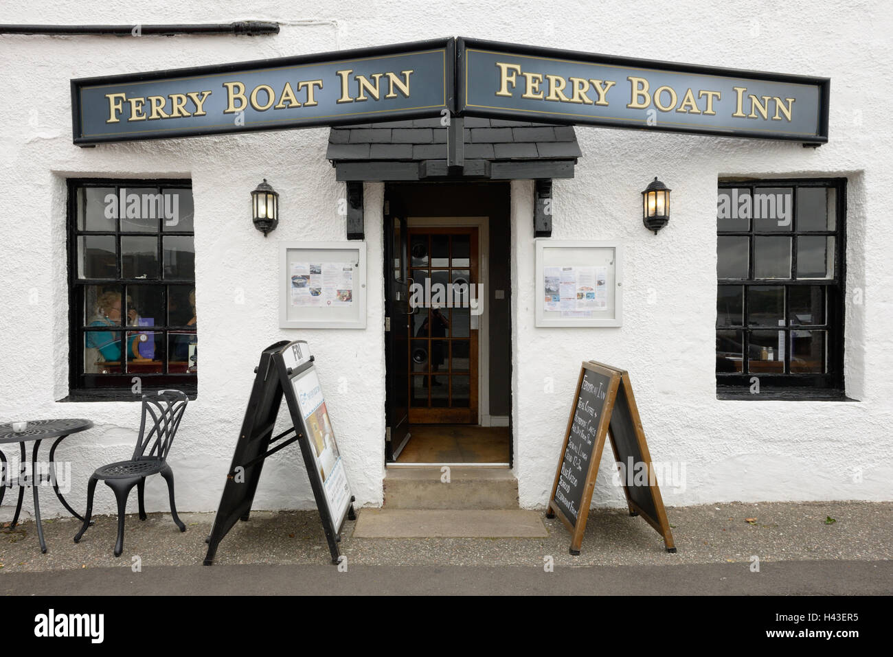 The Ferry Boat Inn, Ullapool, Scotland, UK - Stock Image