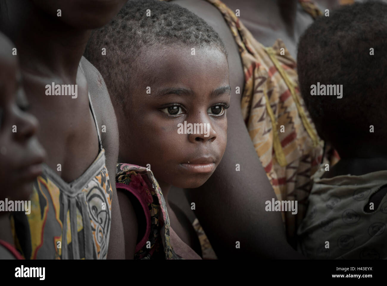 Pygmy, people of Baaka, or Baka, or Ba'aka, child, teenager, Southern Region, Cameroon - Stock Image