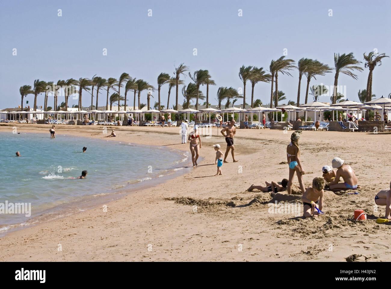 Egypt Hurghada Dana Beach Resort Beach Tourist Africa Upper Stock Photo Alamy