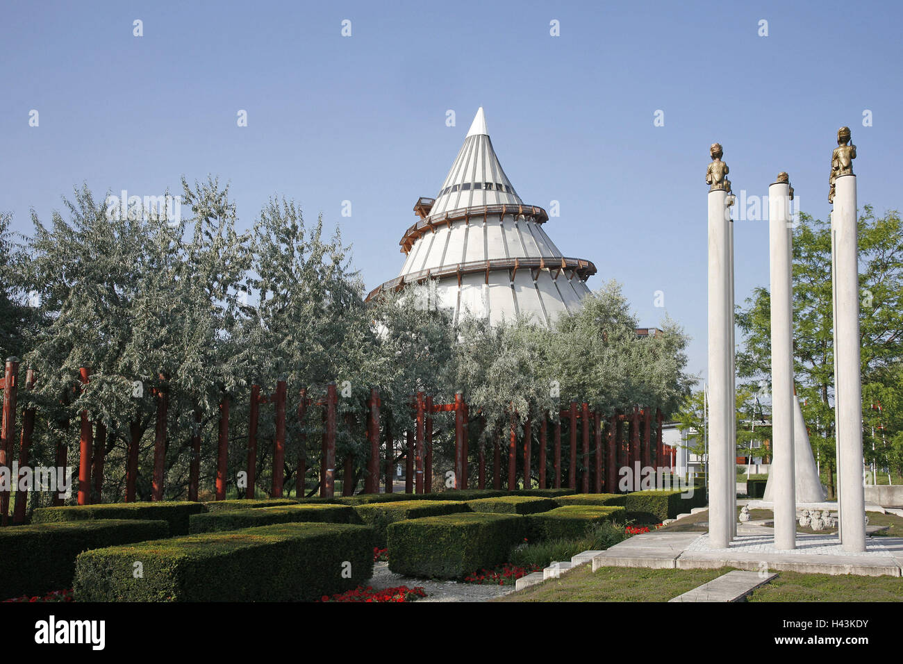Germany, Saxony-Anhalt, Magdeburg, millennium tower, outside view, town, Tessenowstrasse, Elbauenpark, place of - Stock Image