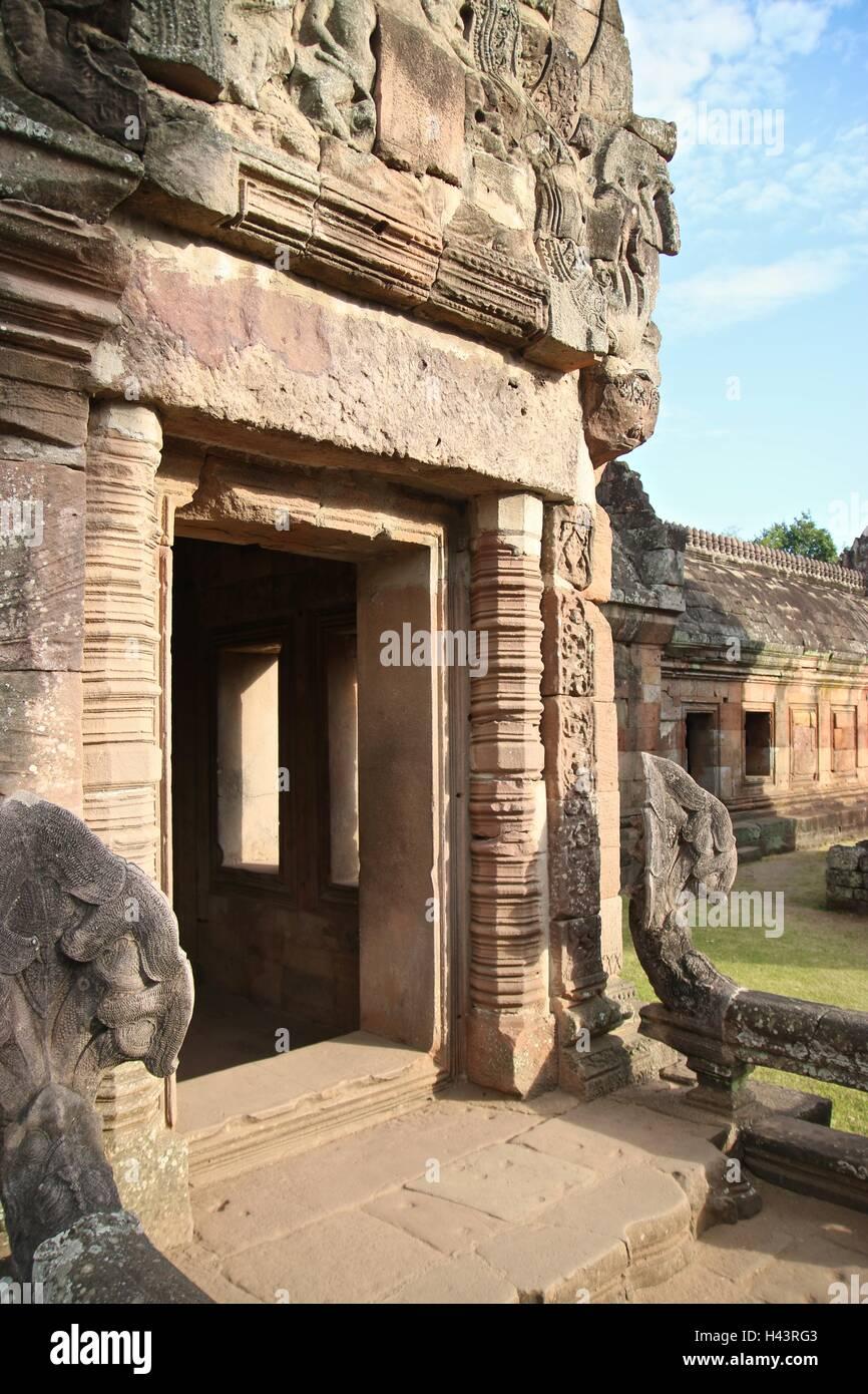 Prasat Hin Phanom Rung in Barium Thailand - Stock Image