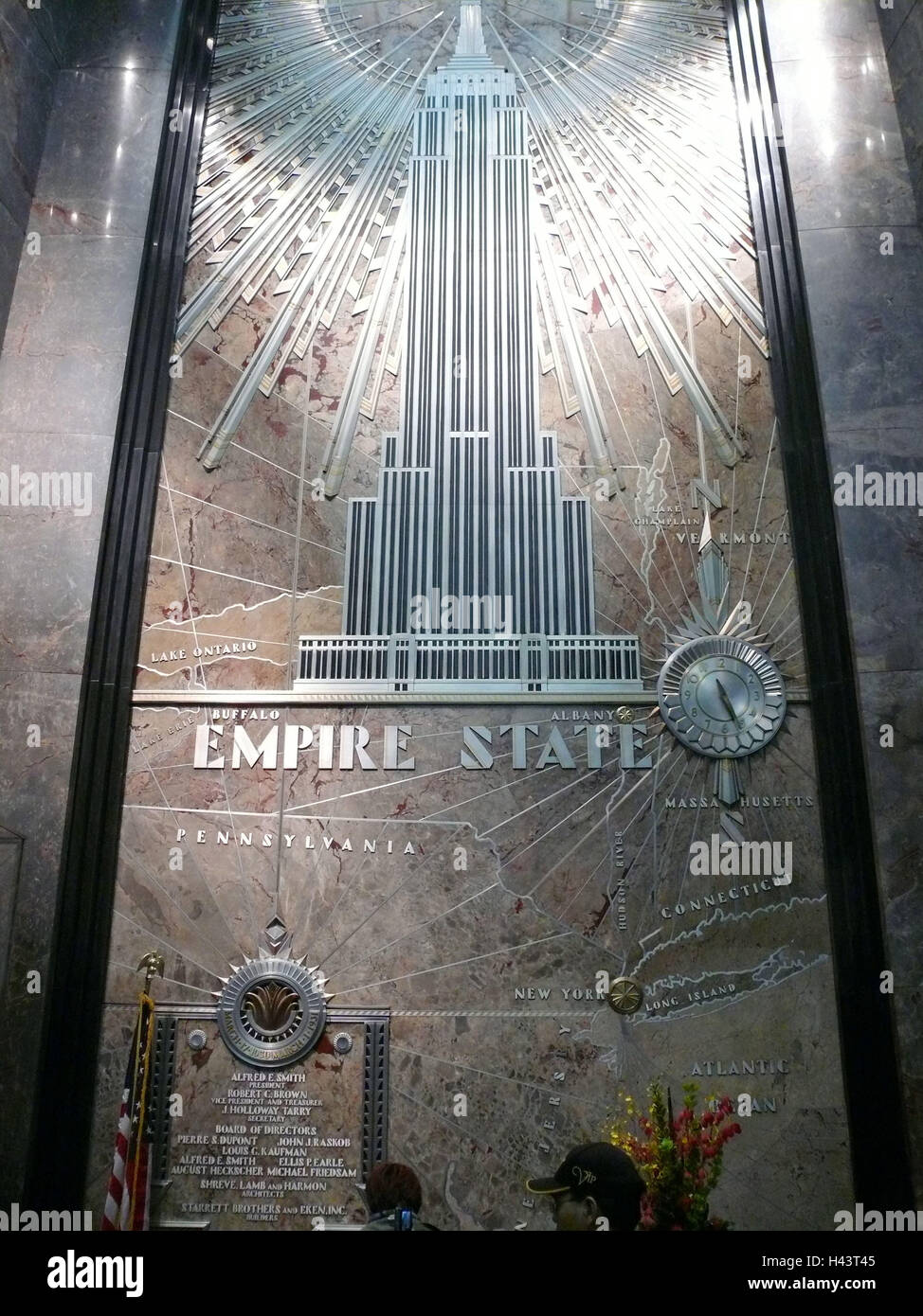 USA, New York city Empire State Building indoors ... Map Empire State Building on grand central map, mount rushmore map, rockefeller center map, new york map, times square map, new wtc map, nyc shooting map, ground zero map, building 7 map, lincoln park chicago neighborhood map, twin towers memorial map, ny state road map, central park map, museums in nyc map, las vegas map, hotel pennsylvania map, jersey city medical center map, nyc beaches map, freedom tower map, green lakes state park trail map,