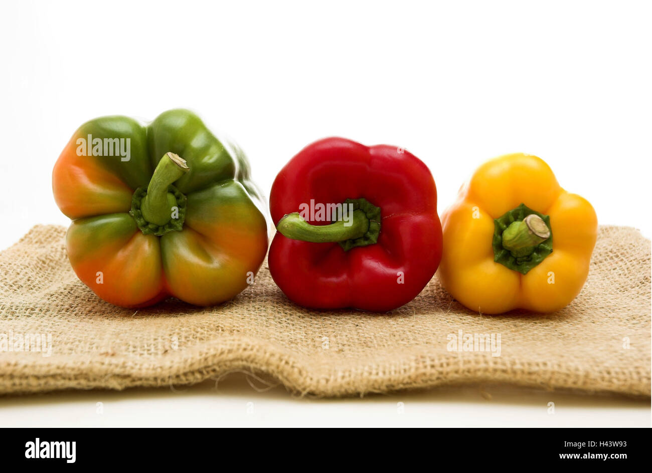 Paprika, peppers, three, vegetables, rich in vitamins, healthy, paprika sorts, brightly, different, freshly, food, - Stock Image