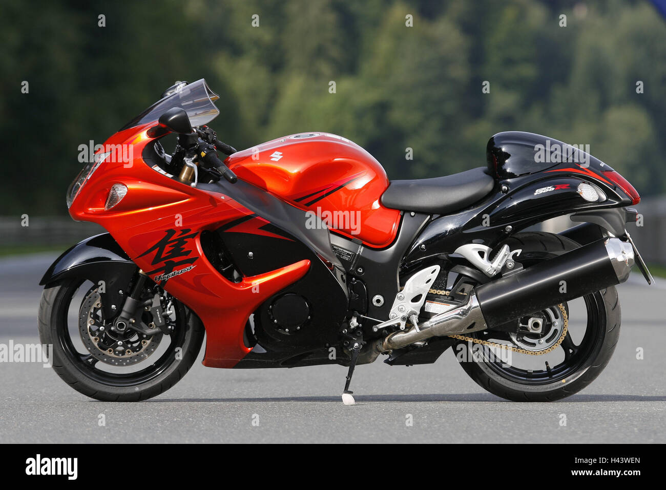 Speed Bike, Suzuki Hayabusa, GSX R 1300, Red, Preview, Street