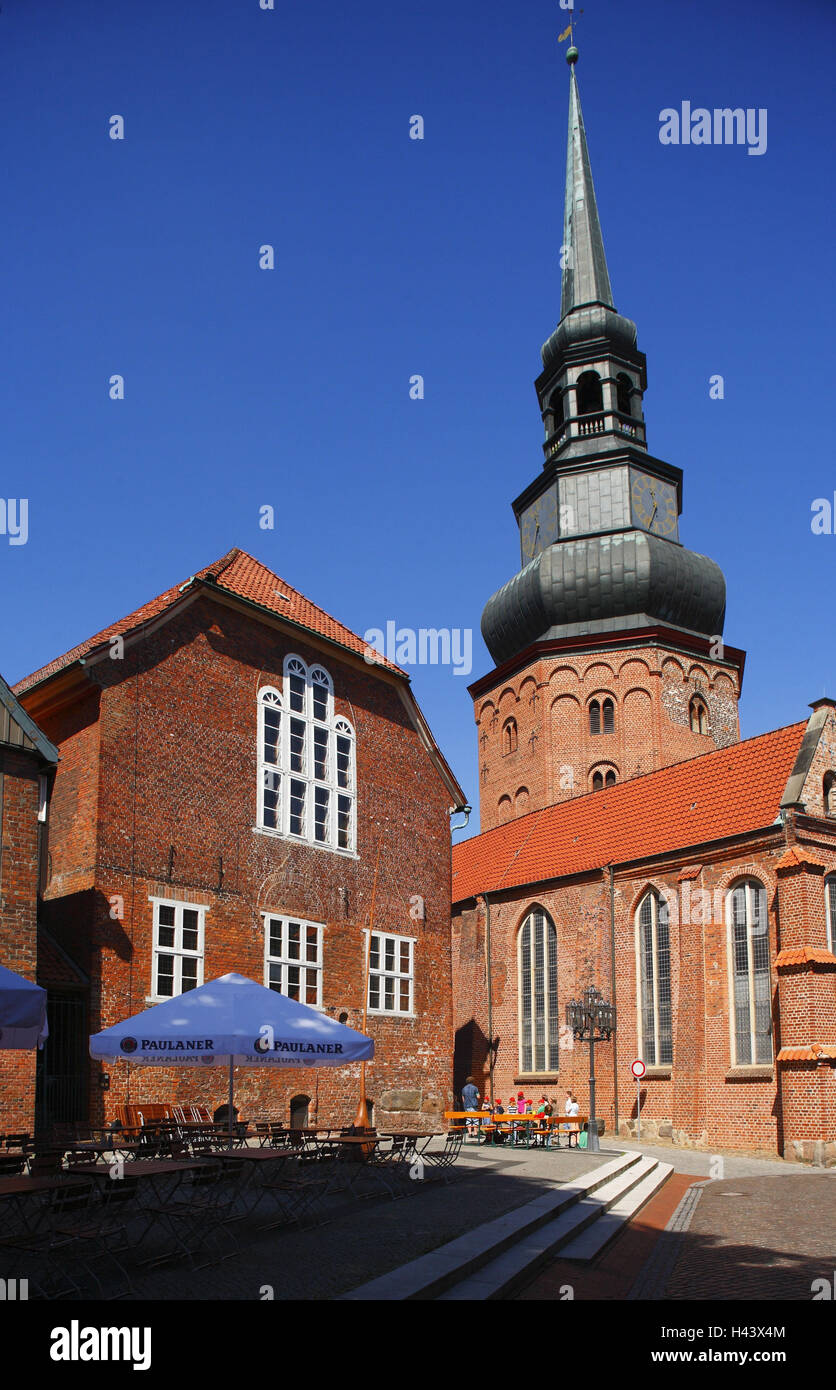 Germany, Lower Saxony, Stade, church, St. Cosmae and Damian, - Stock Image