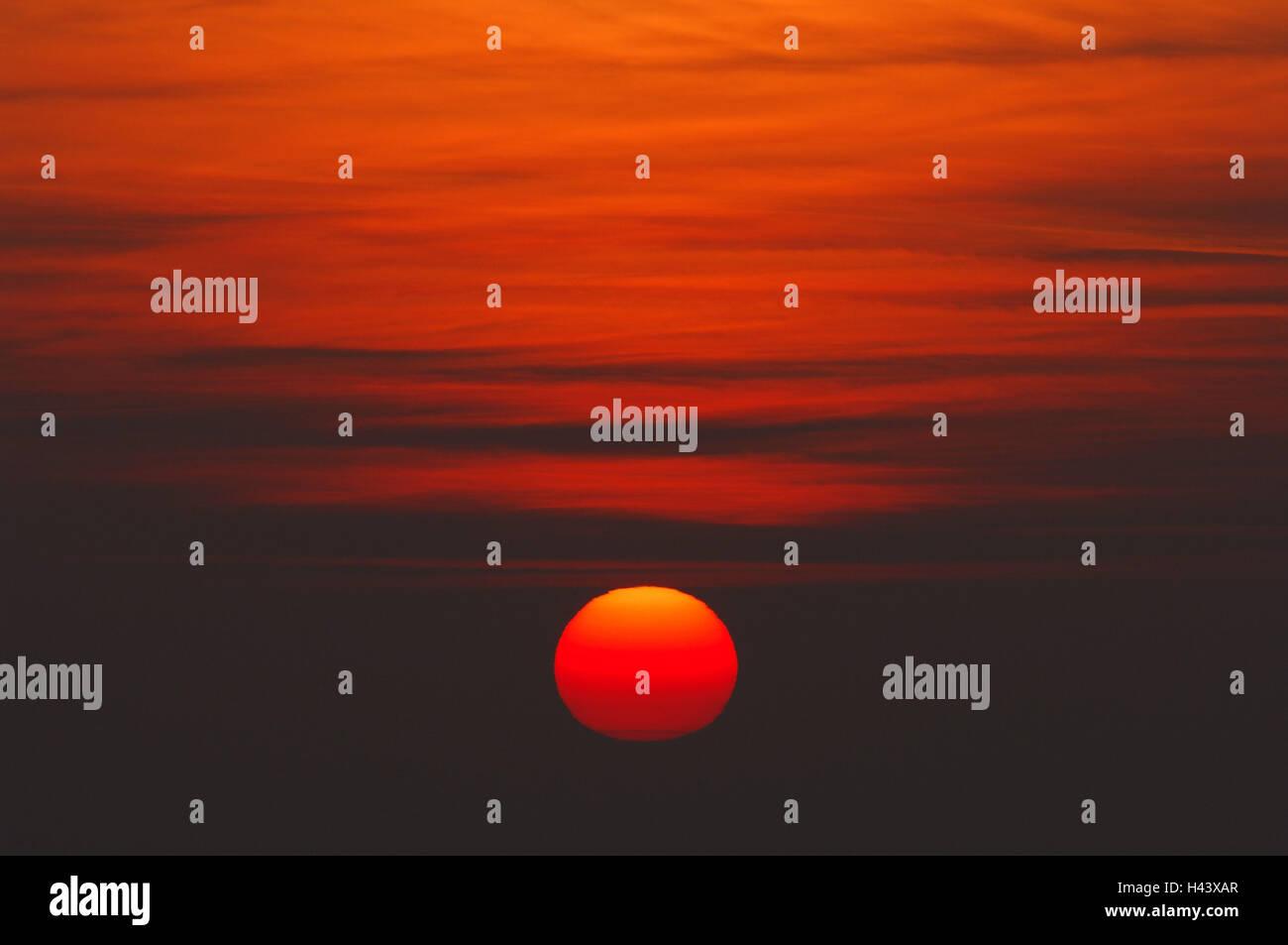 Heaven, the sun, sundown, - Stock Image