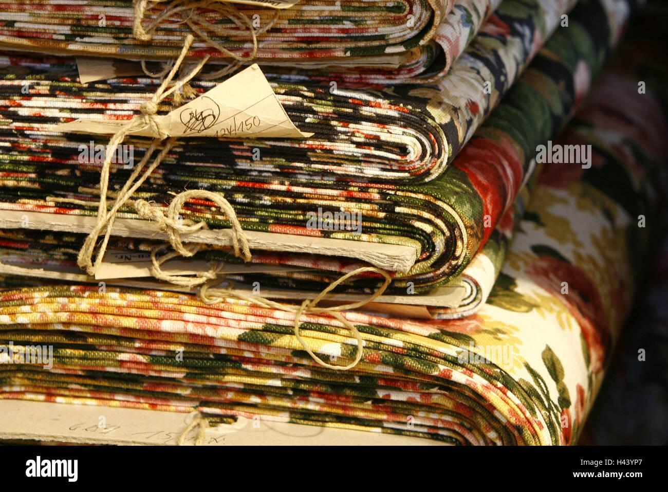 Substance bales, linen, medium close-up, - Stock Image