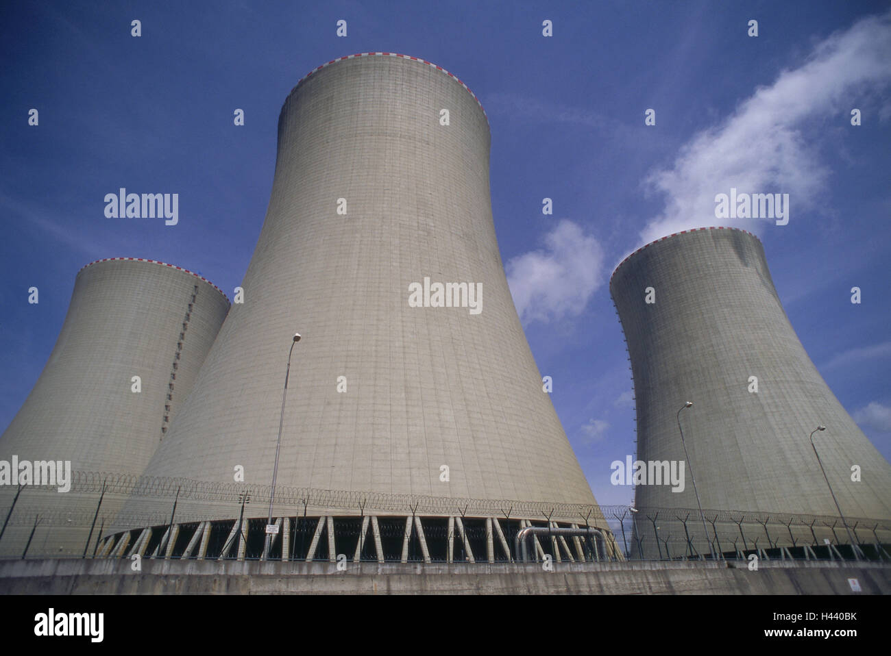 Czechia, Tyn nad Vltavou, nuclear power plant Temelin, cooling towers, atomic power station, nuclear energy, issue, - Stock Image
