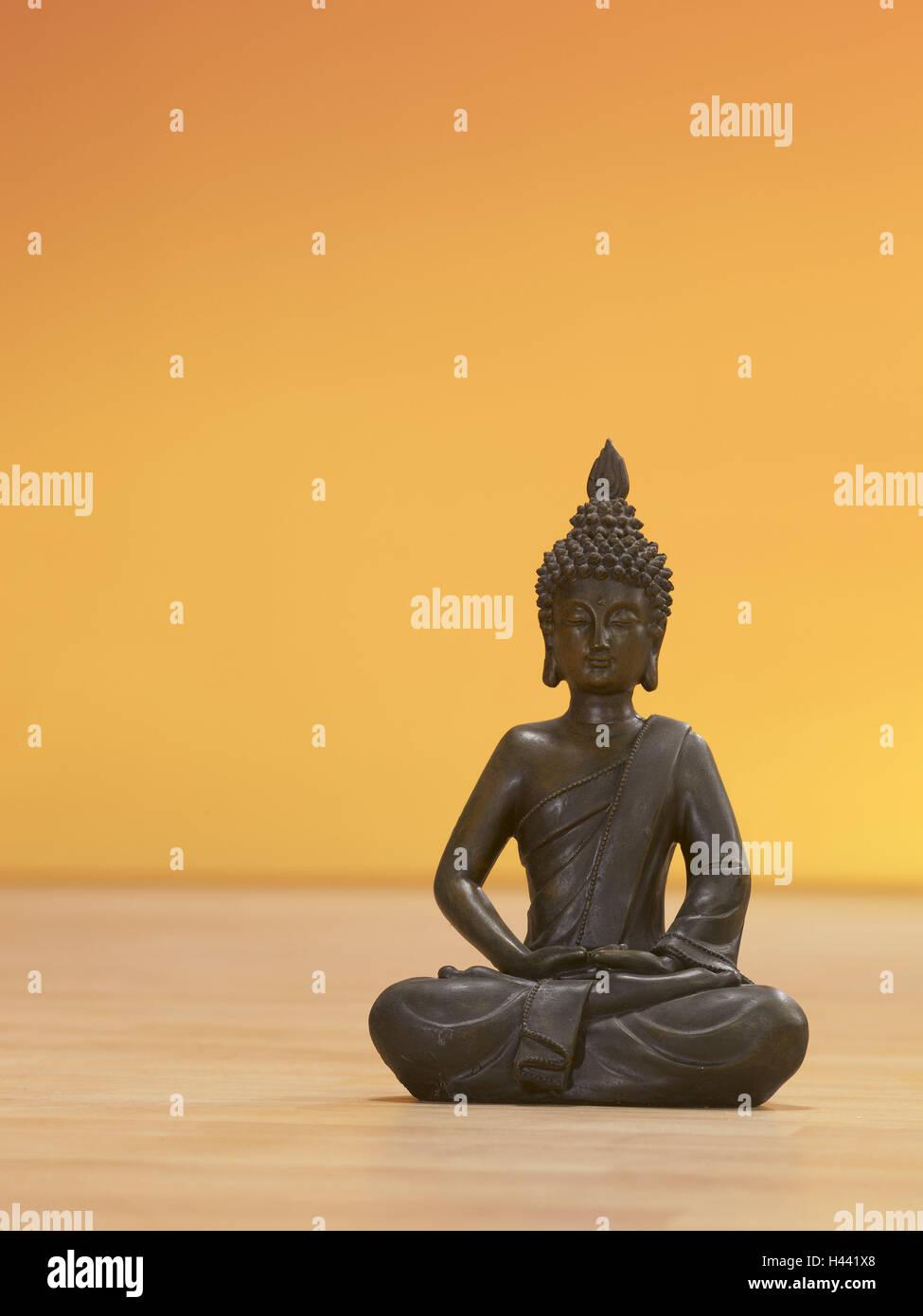 Indian Buddha's figure, lotus flowernsitz, figure, Buddha, Buddha's figure, Buddhism, meditation, concentration, - Stock Image
