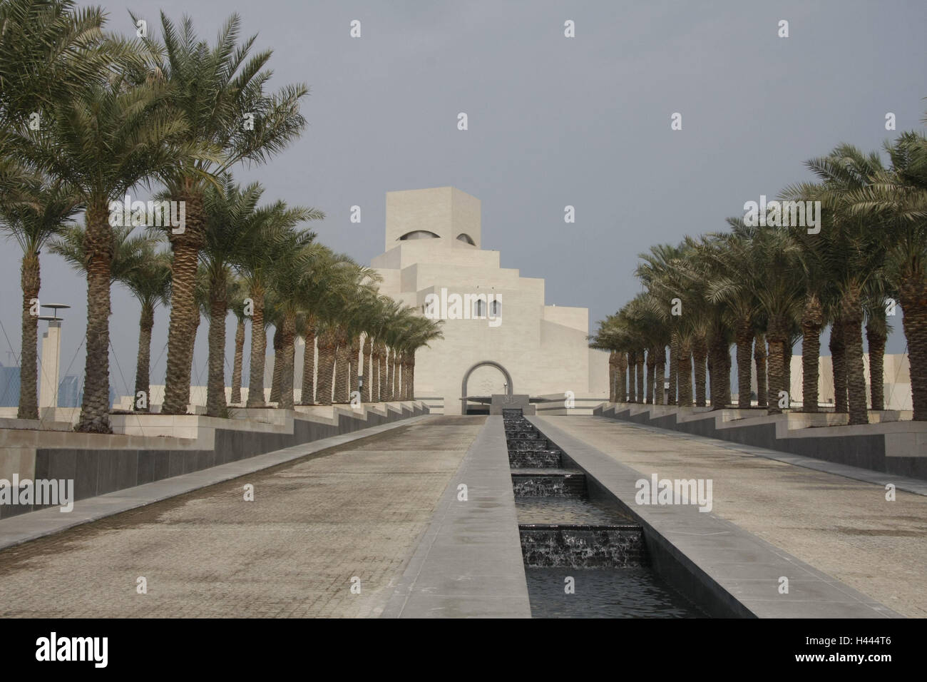 Qatar Doha Museum Islamic Kind Palms Wells Qatar Building