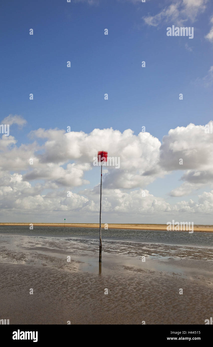 The North Sea, watt, signpost, guidance, - Stock Image