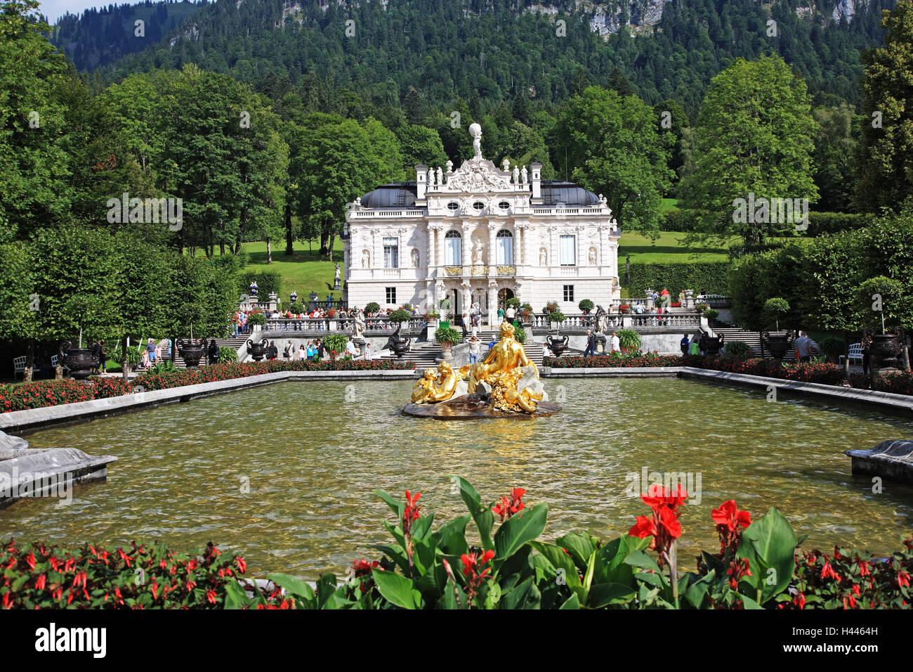 Germany, Bavaria, castle gentle court, park, tourist, - Stock Image