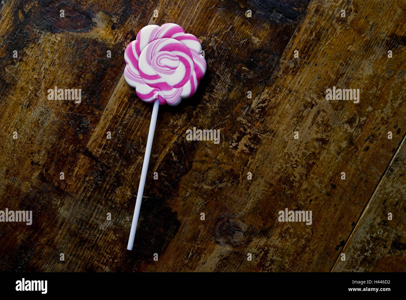 Lolli on Wooden table, - Stock Image