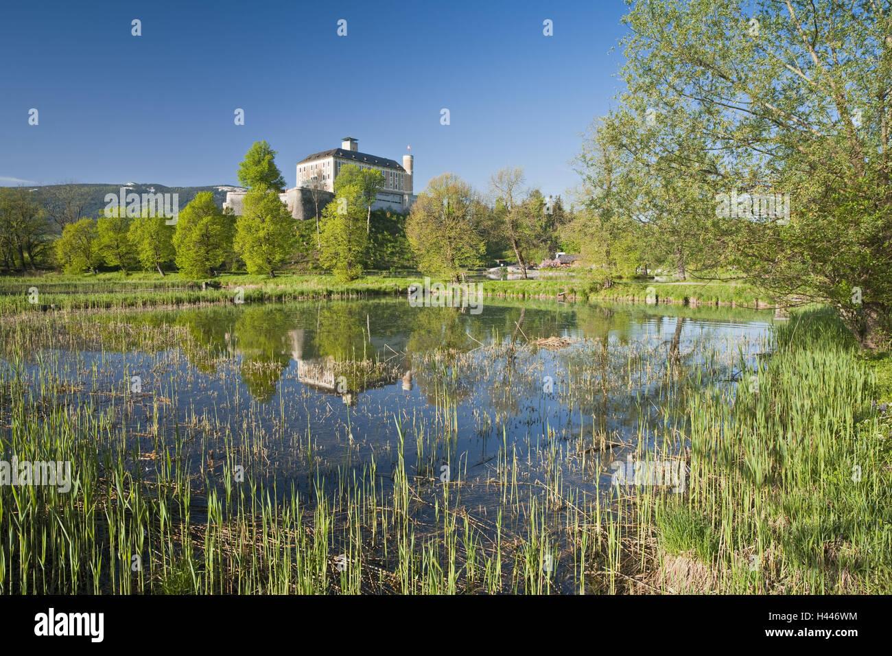 Austria, Styria, Ennstal, castle familiar bile, - Stock Image