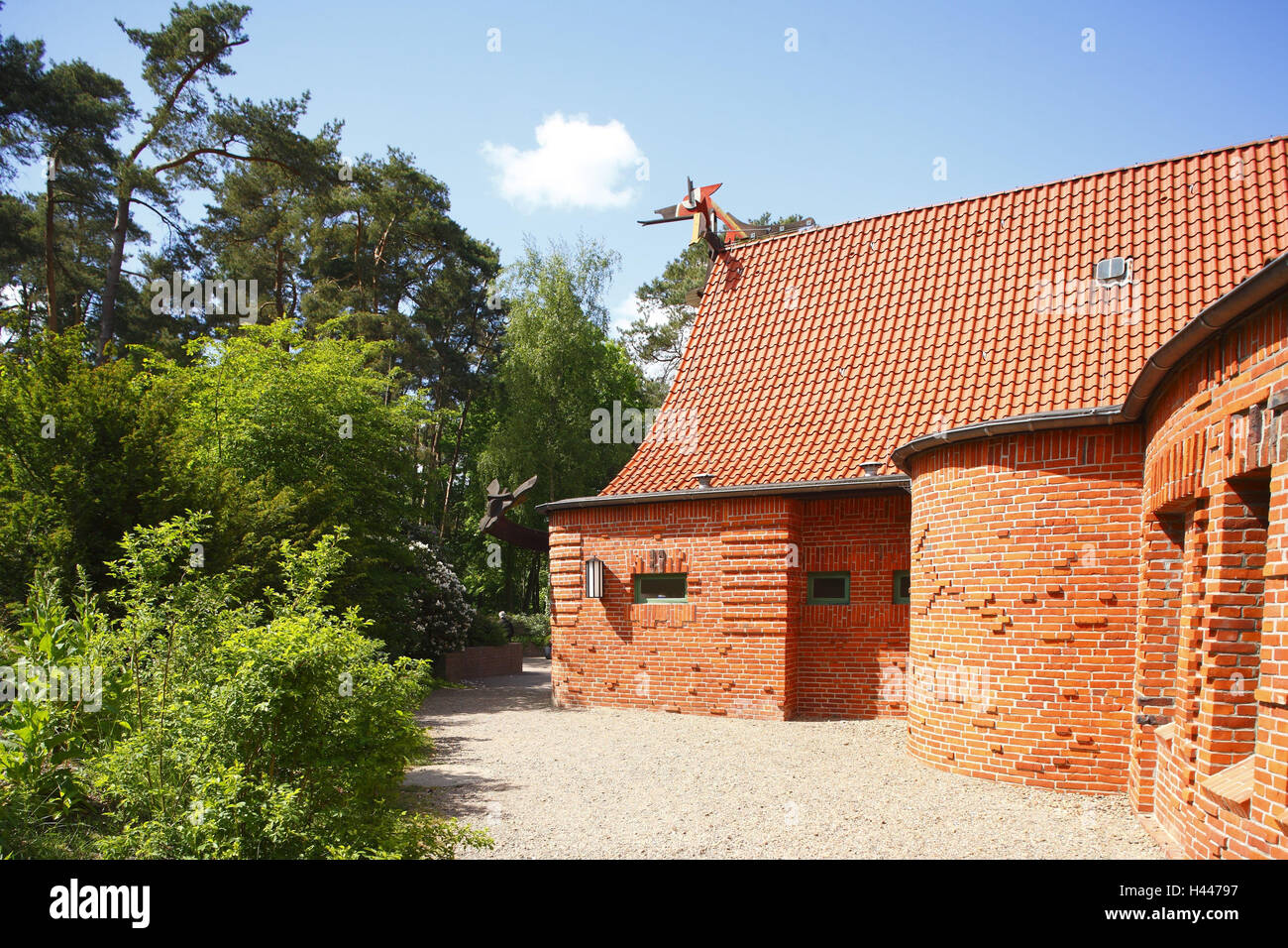 Worpswede, Grosse Kunstschau, - Stock Image