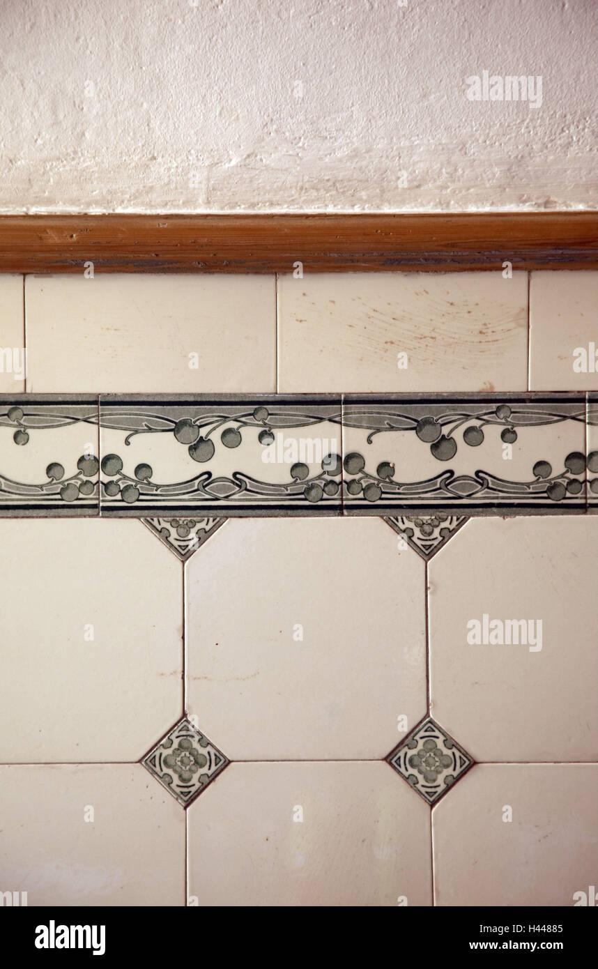 Wall, tiles, - Stock Image